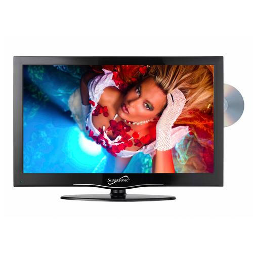 "Supersonic 19"" LED HDTV with DVD, USB/SD, HDMI INPUTS"