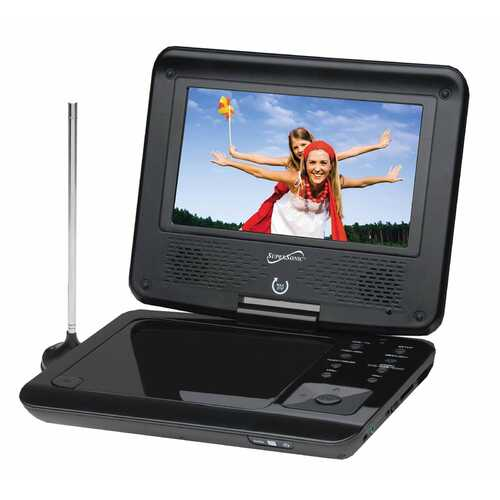Supersonic 7 in. Portable DVD Player with Digital TV