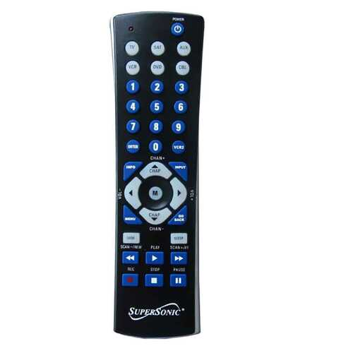 Supersonic Universal Remote Control in Black