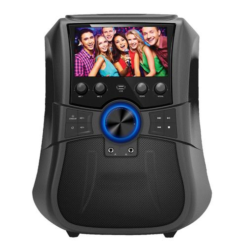 Supersonic Portable Bluetooth Karaoke System with 7 in. LCD Display in Black