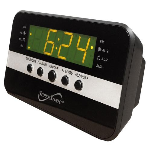 Supersonic Digital Alarm Clock Radio