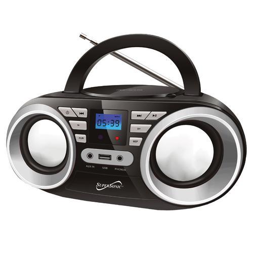 Portable Audio System-Black MP3/CDPlayer
