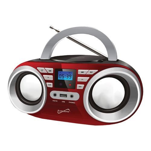 Portable Audio System - Red MP3/CDPlayer