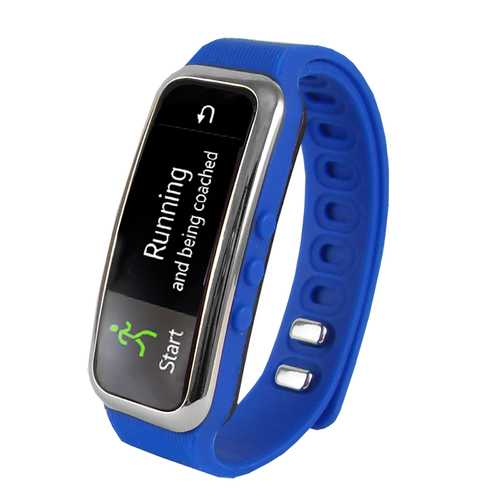 Supersonic Bluetooth Smart Wristband Fitness Tracker with Incoming Call Alert in Blue