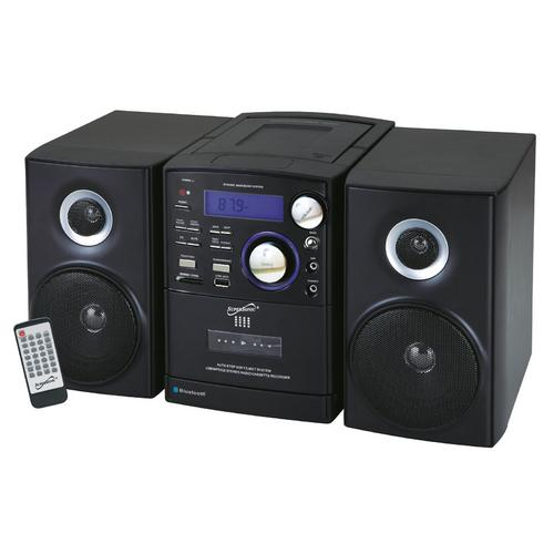 Supersonic Bluetooth CD/MP3/Cassette Player in Black
