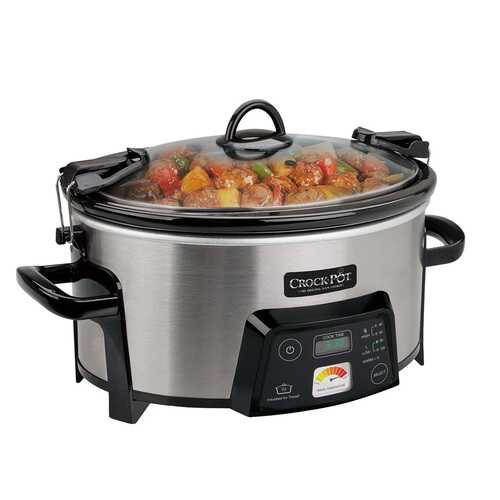 Crock Pot 6Qt  Cook and Carry Programmable Slow Cooker in Stainless Steel