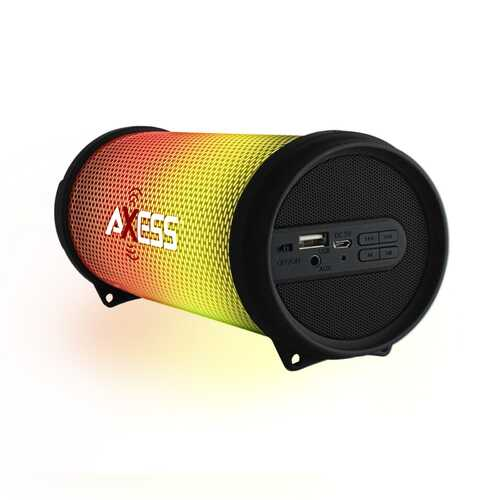 Axess HIFI Bluetooth Media Speaker with Colorful RGB Lights in Black
