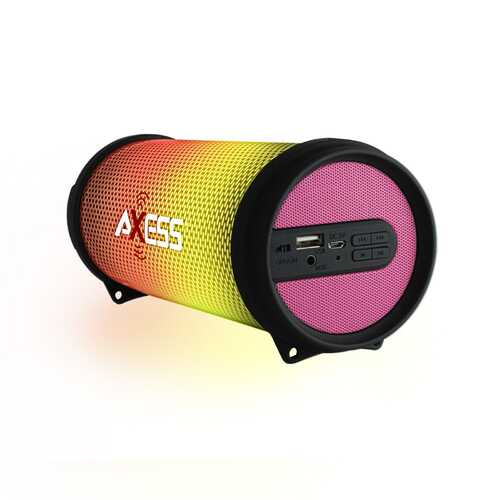 Axess HIFI Bluetooth Media Speaker with Colorful RGB Lights in Pink