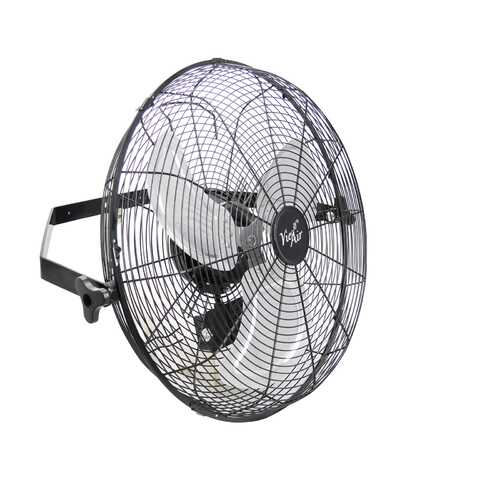 Refurbsihed Vie Air Dual Function 18 Inch Wall Mountable Tilting Fan with 3 Speed Motor in Black