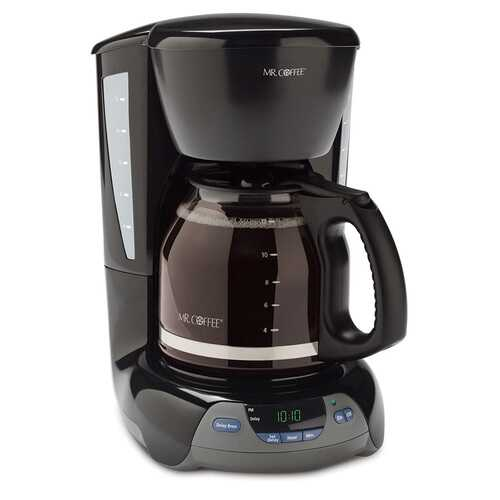 Mr Coffee 12 Cup Programmable Coffeemaker in Black