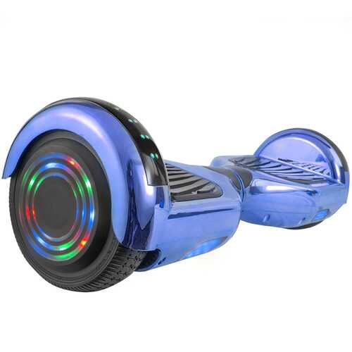 Hoverboard in Blue Chrome with Bluetooth Speakers