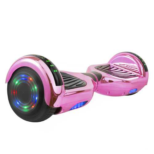 Hoverboard in Pink Chrome with Bluetooth Speakers