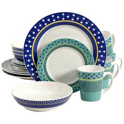 Gibson Home Lockhart 16 Piece Dinnerware Set