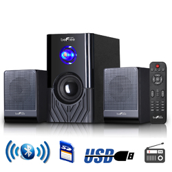 beFree Sound 2.1 Channel Surround Sound Bluetooth Speaker System -Black