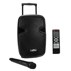 """beFree Sound 10"""" Bluetooth Portable Speaker with USB/SD FM Radio and Lights"""
