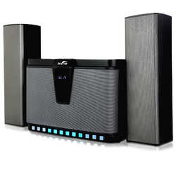 Refurbished BeFree Sound 2.1 Bluetooth Channel Multimedia Wired Speaker System With Sound Reactive LED lights, Remote Control and  Digital Display