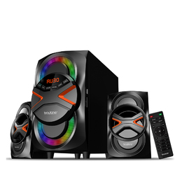 Boytone 2.1 Channel Wireless Bluetooth Multi Media Home Audio System with Disco Lights