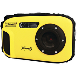 Coleman 20.0 MP/HD Waterproof Digital Camera-Yellow