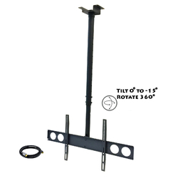 """MegaMounts Heavy Duty Tilting Ceiling Televeision Mount for 37"""" to 70"""" LCD, LED and Plasma Televisions with HDMI Cable"""