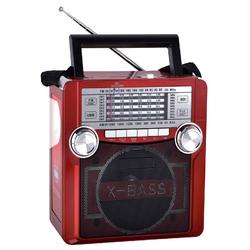 QFX Karaoke Multimedia Speaker withAM/ FM Radio- Red