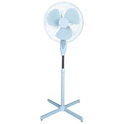"Optimus 16"" Oscillating Stand Fan-White"