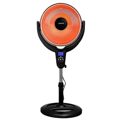 "Optimus 14"" Oscillitating Pedestal Digital Dish Heater with Remote"