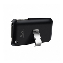 ICC79BLK Black Hard Case With Built-In Stand For iPhone 3G
