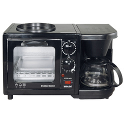 Better Chef Breakfast Central 3-in-1 Meal Maker- Black