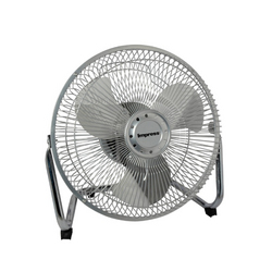 Impress 9-Inch All Metal High Velocity Fan- Silver Finish