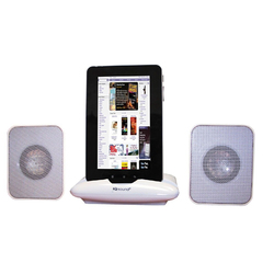 Supersonic Portable Speaker for iPod & Any Other Music Player (White)