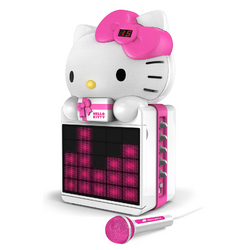 Category: Dropship Gifts, SKU #KT2008B, Title: Hello Kitty CD+G Karaoke System with LED Light Show and P3,MP4+G Playback