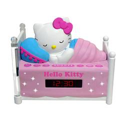 Hello Kitty Sleeping Kitty Alarm Clock Radio with Night Light