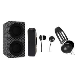 Category: Dropship Bluetooth, SKU #NAS-3061-BLACK, Title: Naxa Portable Bluetooth® Stereo Speakers Entertainment Pack-Black