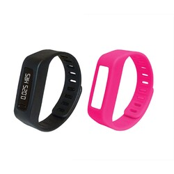 Category: Dropship Bluetooth, SKU #NSW-13PNK, Title: Naxa LifeForce+ Fitness Watch for iPhone and Android- Pink