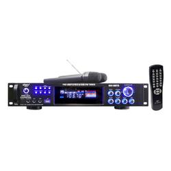 Pyle 1000 Watts Hybrid Pre-Amplifier with AM-FM Tuner/USB/Dual Wireless Mic