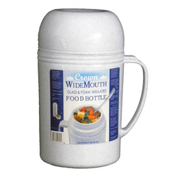 Brentwood 0.5L Wide Mouth Glass Vacuum/Foam Insulated Food Thermos