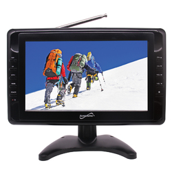 "Supersonic 10"" Portable LCD Television with Built-in Digital TV Tuner"