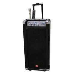 Category: Dropship Sound, SKU #TS-20210B-RB, Title: Nutek Powered Portable Sound System Bluetooth Speaker FM Radio and USB/SD