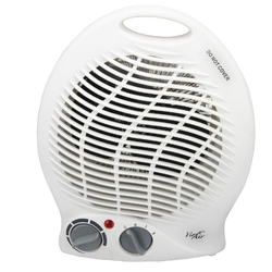 Vie Air 1500W Portable 2-Settings White Home Fan Heater with Adjustable Thermostat