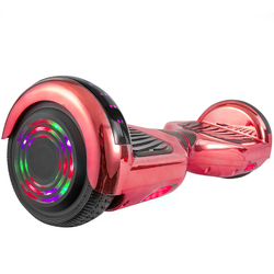 Hoverboard in Red Chrome with Bluetooth Speakers