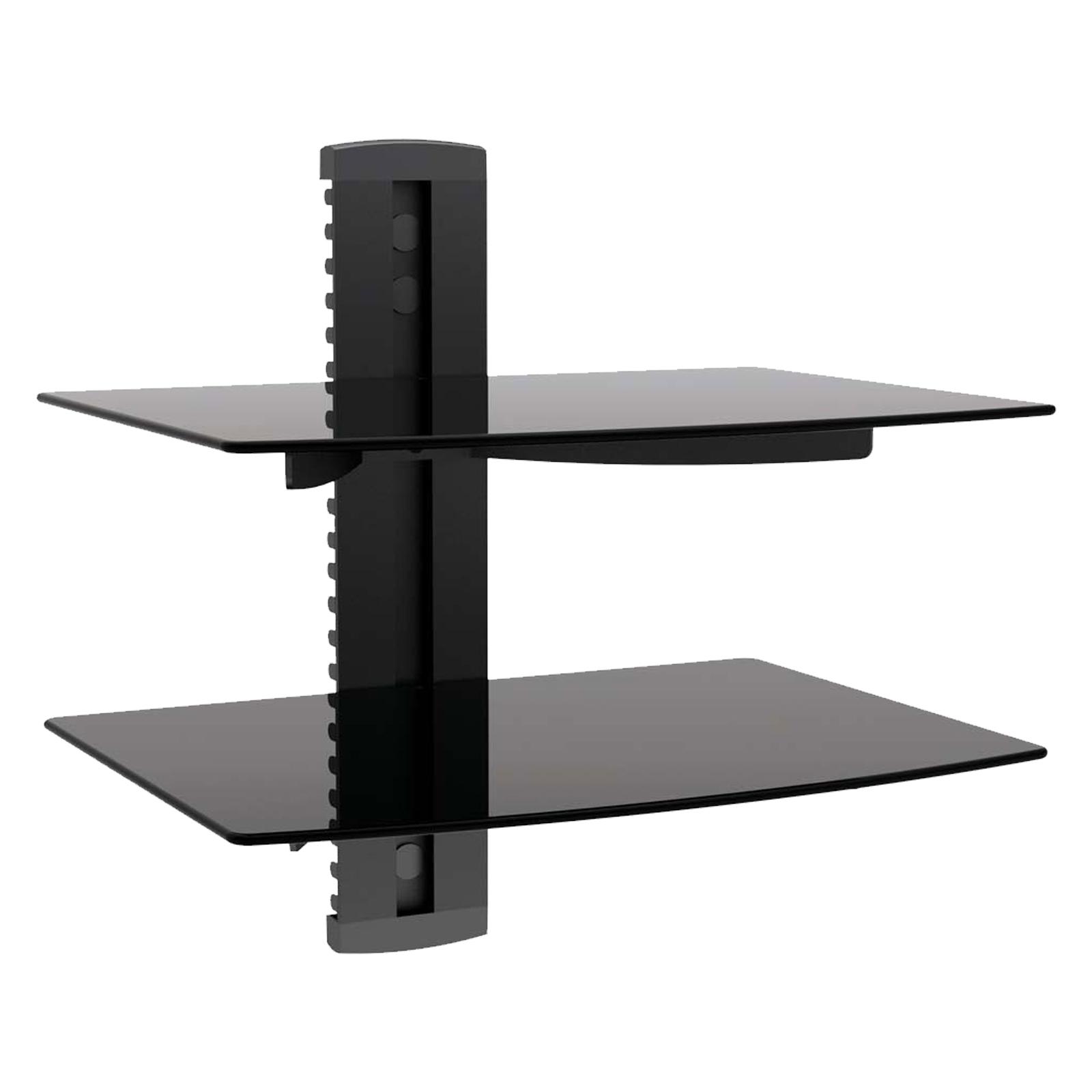 Single stud tv wall mount - Megamounts Tempered Glass Double Single Stud Shelf Wall Mount
