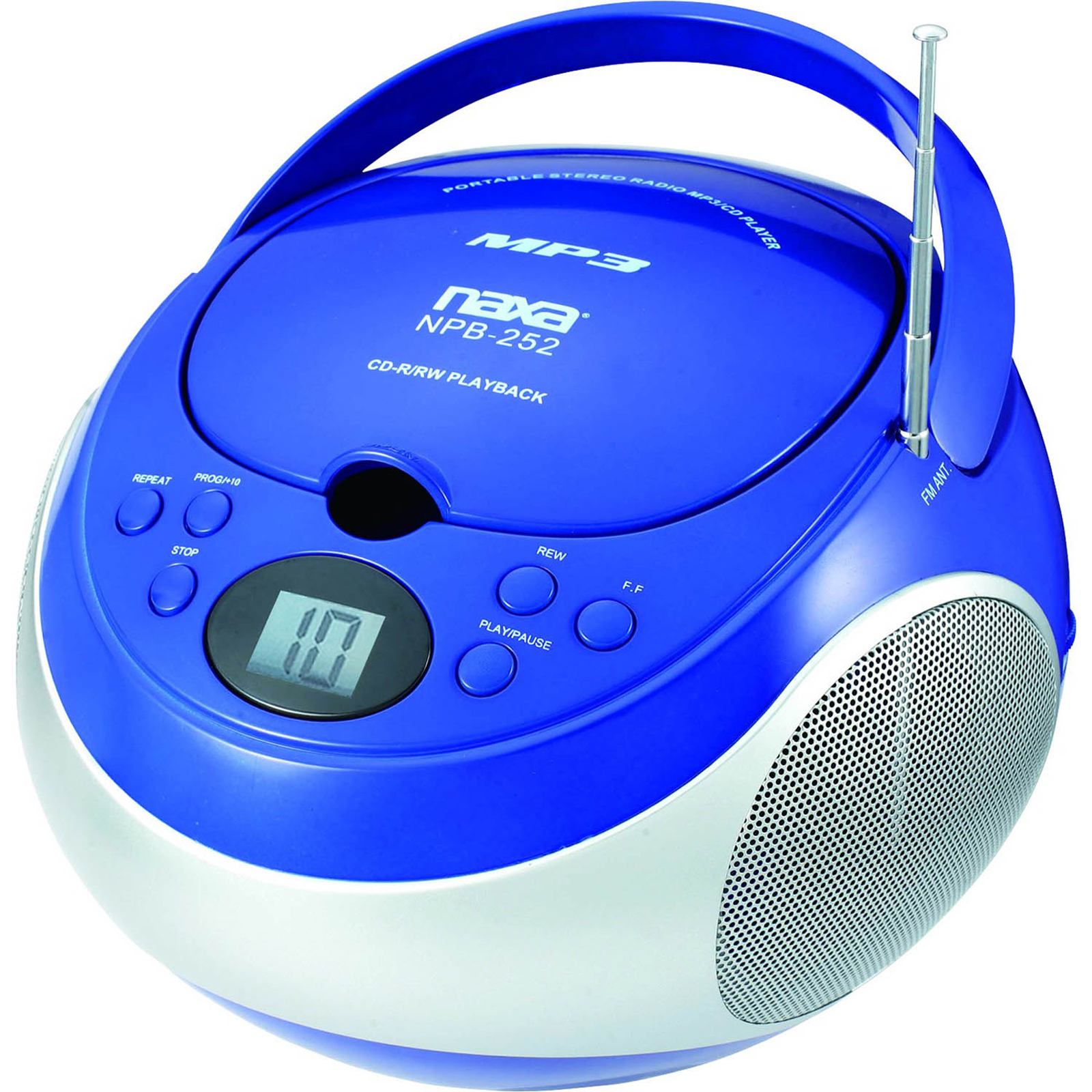 shop naxa portable mp3 cd player with am fm stereo radio. Black Bedroom Furniture Sets. Home Design Ideas