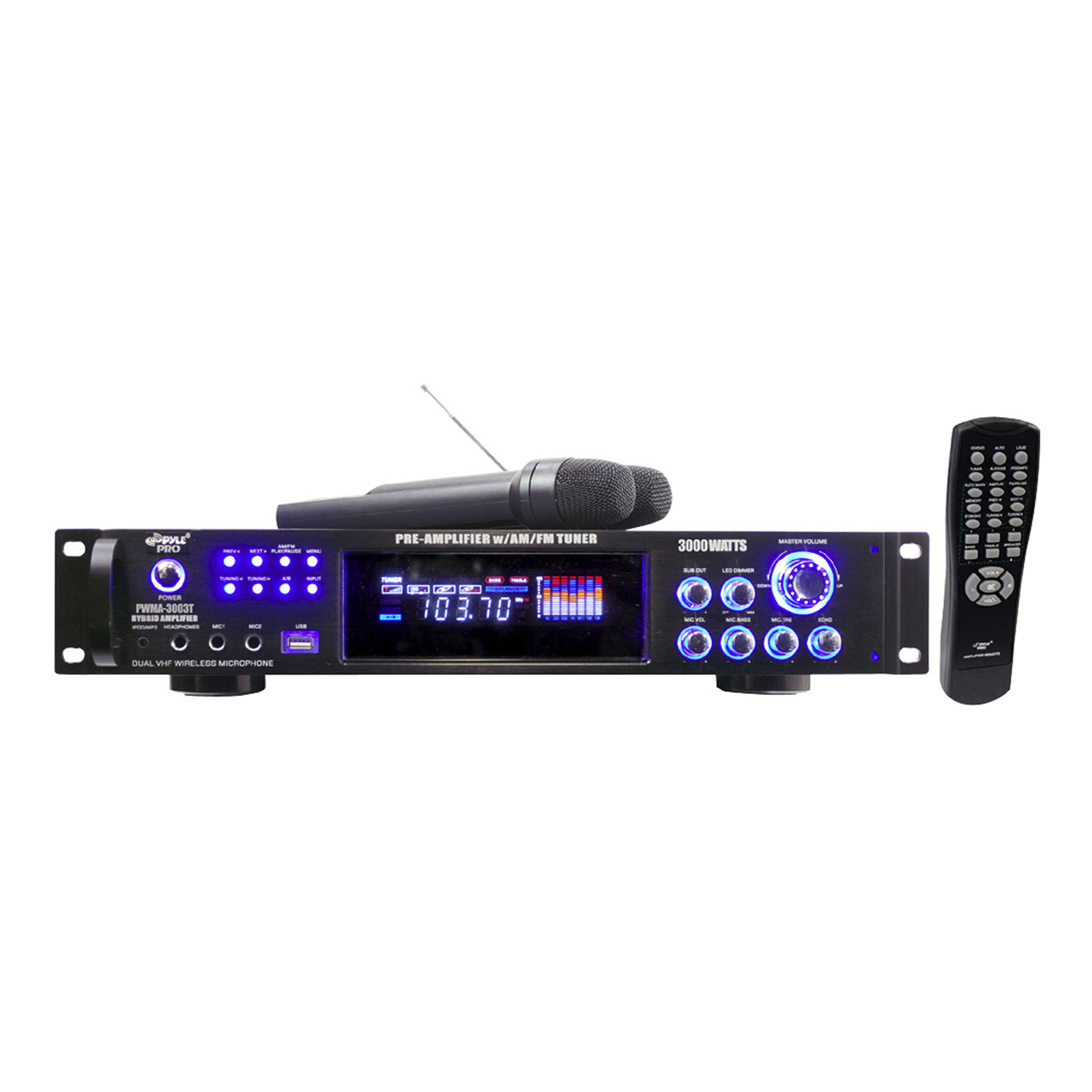 Product Categories Dj Products Vhf Amplifier With 30 Watts Power 3000 Hybrid Pre W Am Fm Tuner Usb Dual