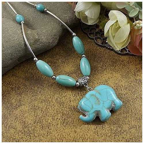 Elephanta Turquoise Necklace