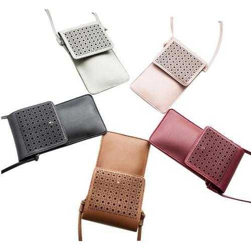 Multi Mini Transparent Phone And Credit Card Holder Cross Body Bag