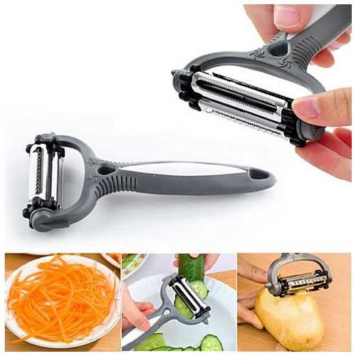 Quick Prep 3 in 1 Veggie Peeler, Slicer & Shredder