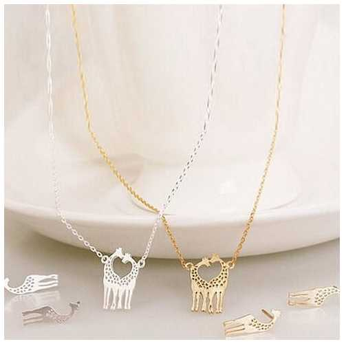 LOVE IS TALL Giraffe Love Necklace And Earrings Set of 3