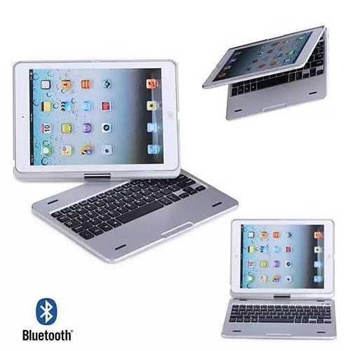 iPad Air or Mini Swiveling Hard Case With Bluetooth Keyboard