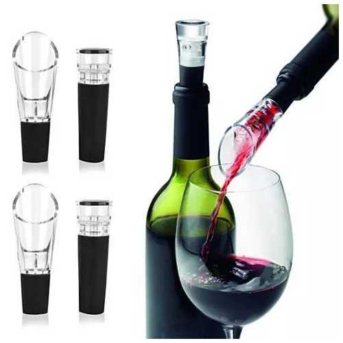 Pour And Preserve Wine Bottle Spouts And Stoppers Set Of 4