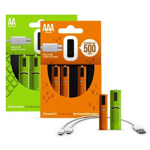 ECO Recharge 4 Pack AA Or AAA USB Rechargeable Batteries